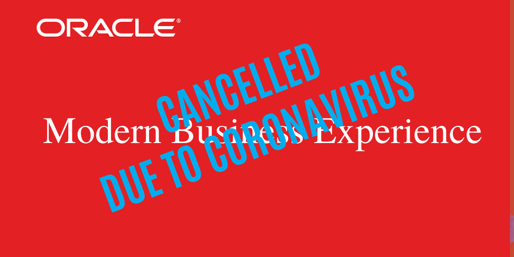 Copy of Copy of oracle conference cancelled corona virus